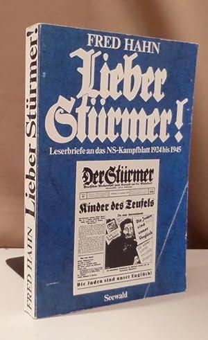 Lieber Stürmer. Leserbriefe an das NS-Kampfblatt 1924: Hahn, Fred.