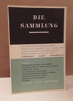 Die Sammlung. 1. Jahrgang. 3. Heft. Literarische