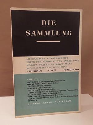 Die Sammlung. 1. Jahrgang. 6. Heft. Literarische