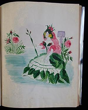 Album of 17 Original Watercolors Done in