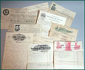 Social history - An archive of approximately 398 billheads relating to the running of Hawkswood, ...