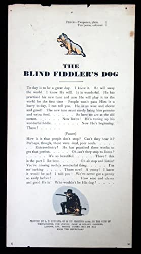 The Blind Fiddle's Dog Song Sheet