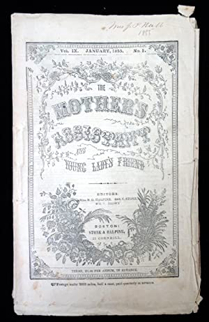 The Mother's Assistant and the Young Ladies Friend, January 1855, Vol. IX No. 1