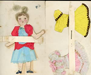 Naive Handmade Paper Doll from St. Valentine - A Little Orphan Girl who Needs a Mother So.1895.