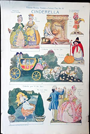 Pictorial Review Theater - Cut-out Play No. IV - Cinderella with narrative and stage instructions.