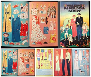 Walking Paper Doll Family