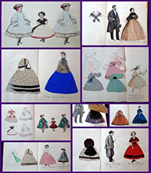 A booklet collection of 25 Cut Paper Characters with Numerous hand made costumes