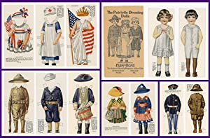 Uncut Set - The Patriotic Dressing Dolls Presented by Farm-Home, The National Monthly Magazine of...