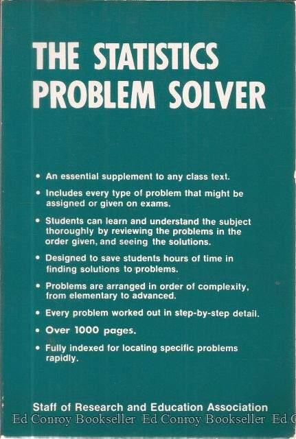 x statistics problem solver problem solvers solution  087891515x statistics problem solver problem solvers solution guides by the editors of rea abebooks
