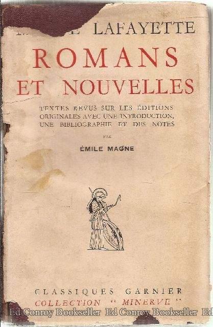 ROMANS ET NOUVELLES de Mme de Lafayette