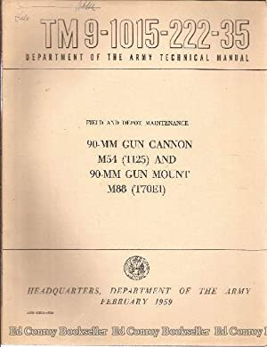 90-MM Gun Cannon M54 (T125) and 90-MM Gun Mount M88 (T70E1) TM9-1015-222-35: Department of the Army