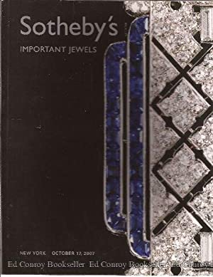 Important Jewels Sale Number N08350 October 17,: Sotheby's