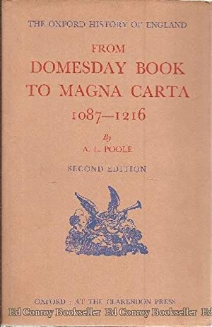 From Domesday Book To Magna Carta 1087-1216: Poole, Austin Lane