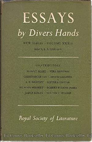 Essays by Divers Hands Being The Transactions Of The Royal Society of Literature: Blake, Robert and...
