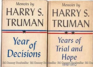 Memoirs by Harry S. Truman **2 VOLUMES** Vol.1-Year of Decision & Vol.2- Years of Trial and ...