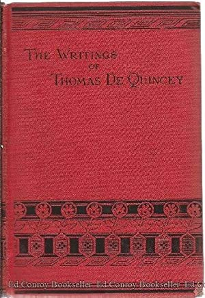 Literary Reminiscences: From The Autobiography Of An English Opium-Eater: De Quincey, Thomas