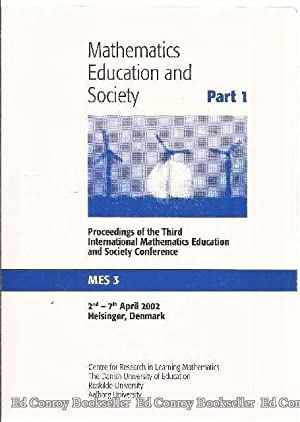 Proceeding of the Third International Mathematics Education: Valero, Paola and