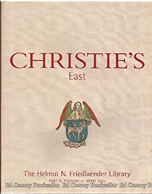 The Helmut N. Friedlaender Library Part II, Tue. 24, April 2001: Christie's