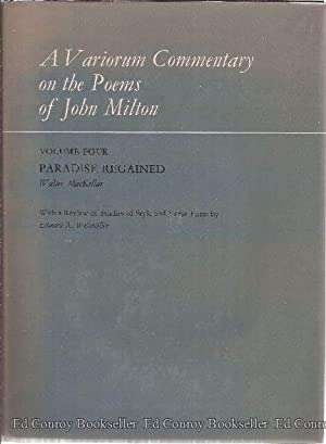 A Variorum Commentary on The Poems of John Milton Volume Four Paradise Regained: MacKellar, Walter