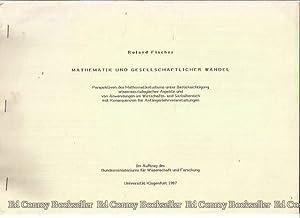 Mathematick Und Gesellschaftlicher Wandel: Fischer, Roland