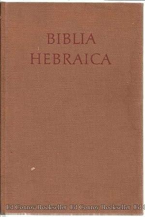 Biblia Hebraica: Kittel, Rud Editor
