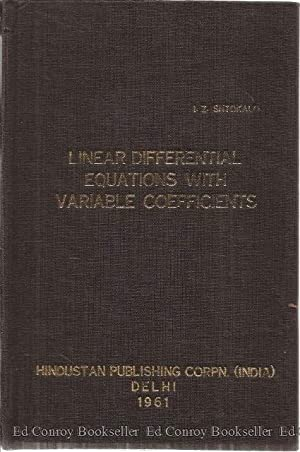 Linear Diferential Equations With Variable Coefficients (Criteria Of Stability and Instability of ...