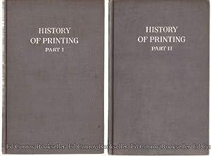 A Brief History of Printing Volumes 1 & 2: Hamilton, Frederick W.
