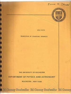 Principles of Classical Dynamics Report Number NYO-10250: Sudarshan, E.C.G.