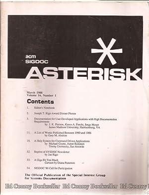ACM SIGDOC Asterisk - AbeBooks