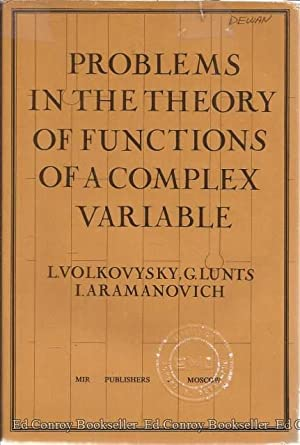 Problems In The Theory Of Functions Of: Volkovysky, L. with