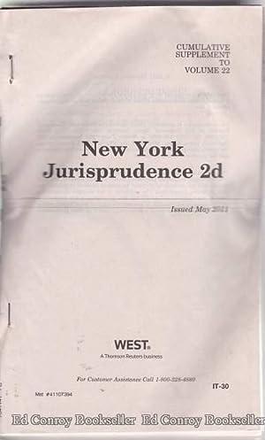 New York Jurisprudence 2d Volumes 85, 86 Pocket Parts 2011 Cumulative Supplements, 2011 Words and ...