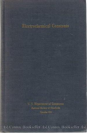 Electrochemical Constants: Weeks, Sinclair (Secretary)