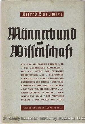 Mannerbund und Wissenschaft: Baeumler, Alfred
