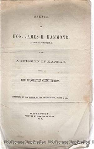 Speech of Hon. James H. Gammond, of: Hammond, Hon. James
