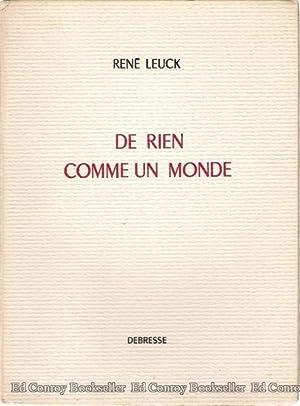 De Rien Comme Un Monde: Leuck, Rene