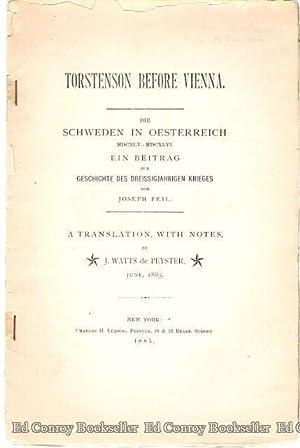 Torstenson Before Vienna Die Schweden In Oesterreich 1645-1646: De Peyster, J. Watts (Translation ...