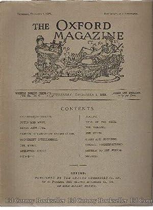 The Oxford Magazine Volume XL Nos. 2, 7 & 13: Oxford Magazine Co., Ltd