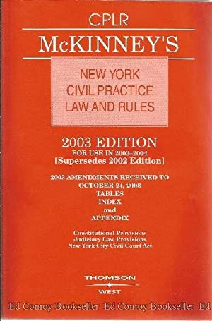 McKinney's New York Civil Practice Law and: Author Not Stated