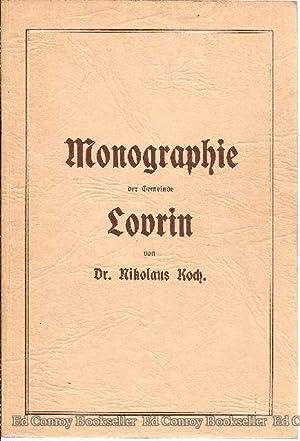 Monographie der gemeinde Lovrin: Koch, Dr. Nikolaus