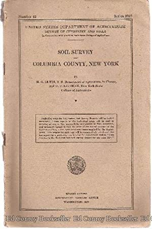 Soil Survey of Columbia County, New York: Lewis, H. G.