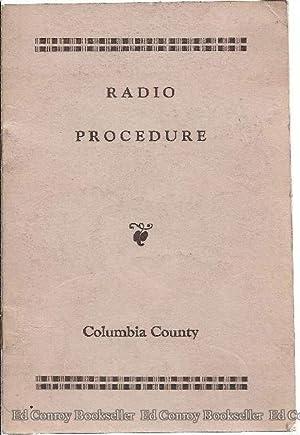 County of Columbia Radio Procedure 1958: County Advisory Board Committee