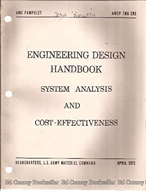 Engineering Design Handbook System Analysis and Cost-Effectiveness: Department of The Army