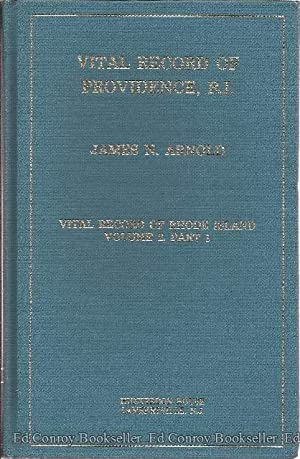 Vital Record of Providence, Rhode Island: Arnold, James, N.