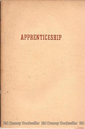 Apprenticeship: Millett, Fred B. *Author SIGNED/INSCRIBED!*