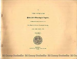 The New England Historical & Genealogical Register *Volume I-V for the Years 1847, 1848, 1849, ...