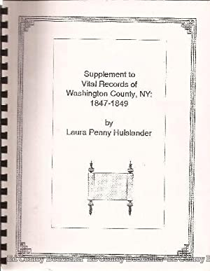 Vital Records 1847-1849 Supplement to Washington County,: Hulslander, Laura Penny