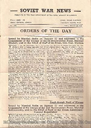 Soviet War News No. 1063 Friday, January 19, 1945: Author Not Stated