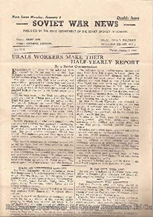 Soviet War News No. 1052 Friday, January 5, 1945 Double Issue: Author Not Stated