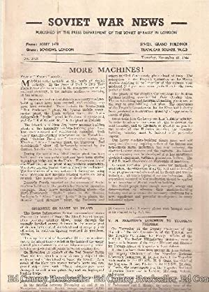 Soviet War News No. 1018 Thursday, November 23, 1944: Author Not Stated