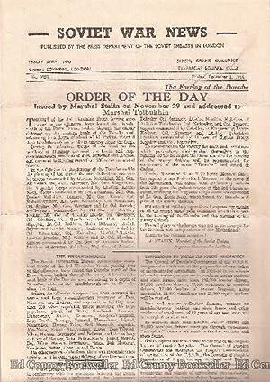 Soviet War News No. 1025 Friday, December 1, 1944: Author Not Stated
